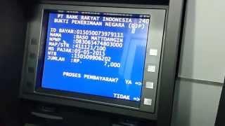 Cara Pembayaran ID Billing MPNG2 Via ATM BRI