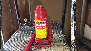 hydraulic bottle jack tutorial