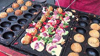 New York City Street Food - Takoyaki Octopus Balls