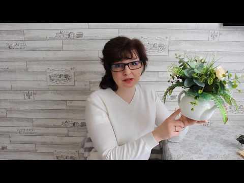 DIY: Кашпо для цветов из прищепок за 15 минут. Обзор новой цветочной композиции в чайнике.