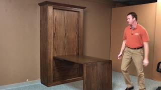 Craftsman Twin Murphy Bed with Desk