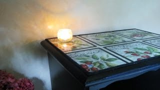 How To Decoupage Furniture With Fabric