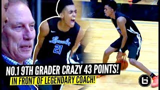 #1 9th Grader Emoni Bates INSANE 43 POINTS In Front of LEGENDARY Coach Izzo!!