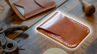 Making A LEATHER CARD HOLDER With Flap Closure (FREE PDF PATTERN!)