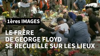 Le frère de George Floyd se recueille sur les lieux de l'arrestation   AFP Images