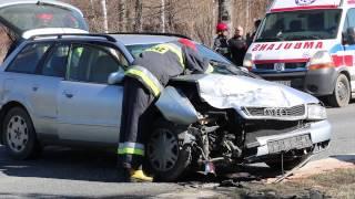 Zderzenie dwóch samochodów w Teodorówce