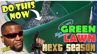 Winterize NOW!!, for a GREEN LAWN next season. How to Winterize Your lawn the right way.