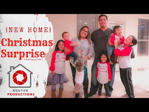 SURPRISED KIDS With A NEW HOUSE & PUPPY For CHRISTMAS