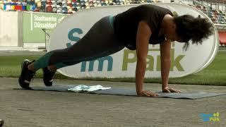 Intensives Fitness Training in der MERKUR SPIEL-ARENA