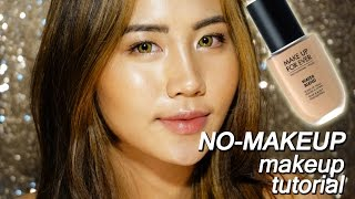 NO MAKEUP Makeup Tutorial | Make Up For Ever Waterblend Foundation