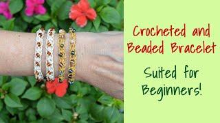 Crochet Bracelet with Beads ~ For Beginners