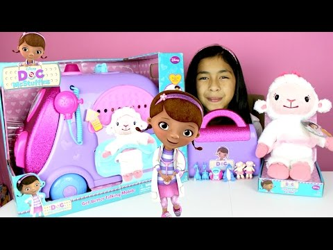 Doc McStuffins Talking Mobile Doctor Kit and Talking Lambie Toys Review  B2cutecupcakes