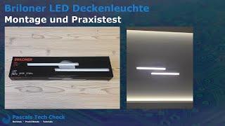 Briloner LED Deckenleuchte (2-flammig) ||  Montage, Anschluss und Test