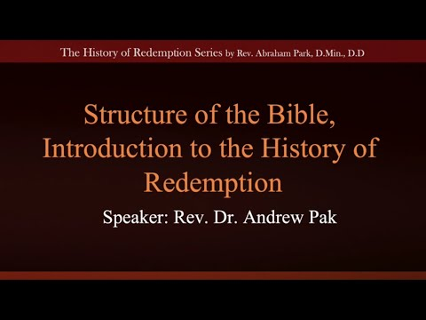 Introduction to the History of Redemption