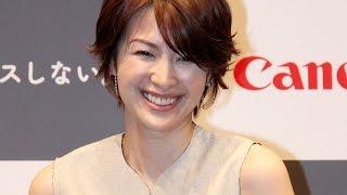 吉瀬美智子、手料理写真も披露「いつもより品数が…」キヤノン「EOSKissX8i」新CM発表会3#MichikoKichise