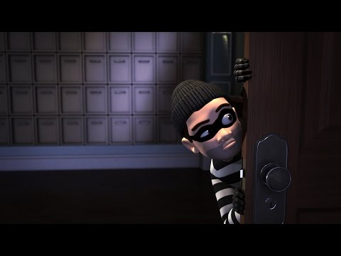 animating a cartoon burglar scene in maya tutorial