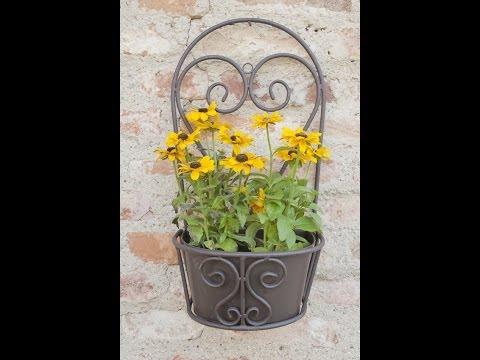 Gartendeko für die Wand - Pflanzen und Kräuter an der Wand - Wandkorb | VARIA LIVING