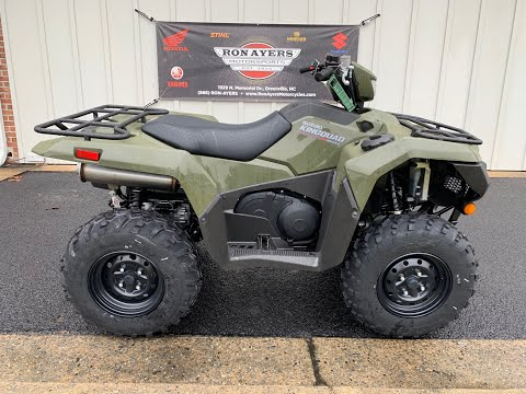 2019 Suzuki KingQuad 500AXi in Greenville, North Carolina - Video 1