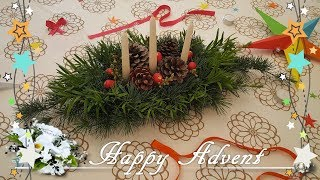 Advent Wreath DIY: How To Make | Christmas Decoration | Easy And Fast | Advetskranz | 2017