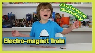 How to make an Electro-magnet Train - Science Sunday - Day 632   ActOutGames