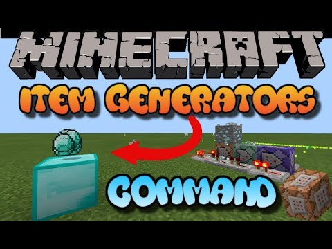 How to make ITEM GENERATOR in Minecraft PE (command blocks
