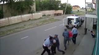 Жесткая драка!оказали сопротивление полиции и получили