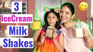 MyMissAnand & Her Top 3 Ice-Cream MilkShakes Recipes | CookWithNisha