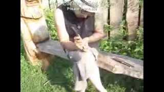 Смотреть онлайн Как можно сделать деревянную ложку своими руками