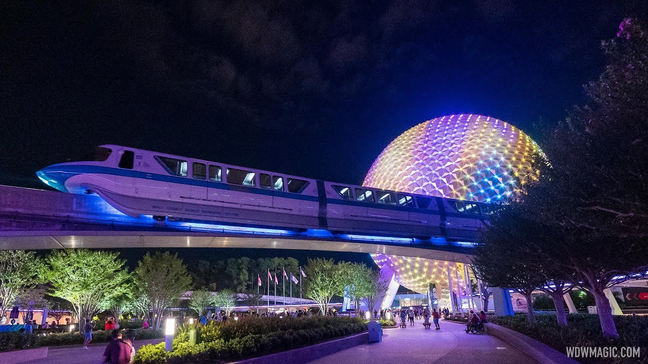 Monorail lighting effect