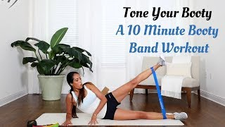 Tone Your Booty | A 10-Minute Booty Band Workout by Fit Simplify