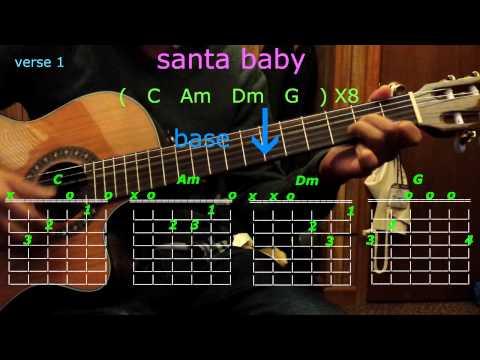 Santa Baby Eartha Kitt Easy Piano Tutorial Lesson