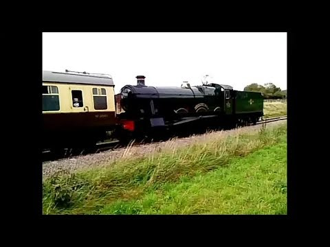 GWR 7903 'Foremark Hall' in action on the Gloucestershire Wa…