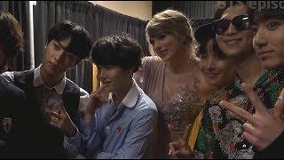 Taylor Swift met BTS backstage # billboard music awards