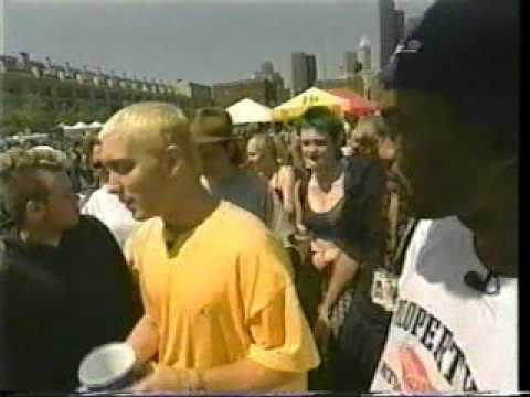 A much lesser known Eminem at Vans Warped Tour 1999, a punk rock festival