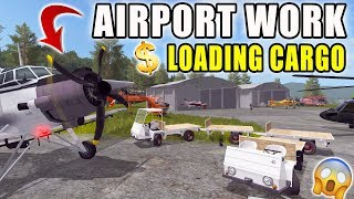 INSANE AIRPORT | LOADING CARGO | AIRPLANES + HELICOPTERS | FARMING SIMULATOR 2017