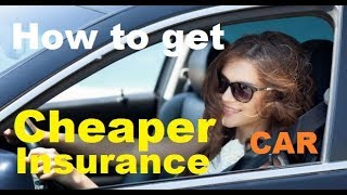 TOP 10 Tips for CHEAPER CAR INSURANCE - 2020 - How to get Lower Auto Insurance Rates