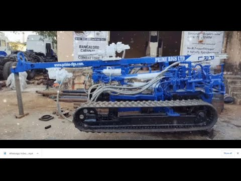 PHD 30 Borehole Drilling Machine With Rubber Track, Specially Designed