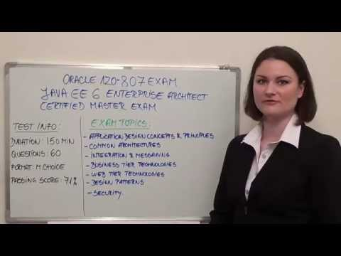 1Z0-807 - Java EE 6 Enterprise Test Architect Certified Master Exam ...