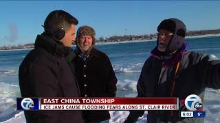 East China Township facing flood warning after ice blockage on St. Clair River