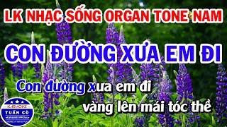 lien-khuc-karaoke-nhac-song-organ-tru-tinh-tone-nam-con-duong-xua-em-di-nguoi-di-ngoai-pho