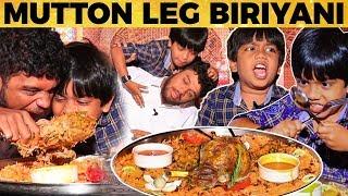 """""""Poda Dei"""" Raasukutty Ashwanth Trolls VJ Nikki! Arabian Mutton LEG Biriyani on a HUGEE Plate!"""