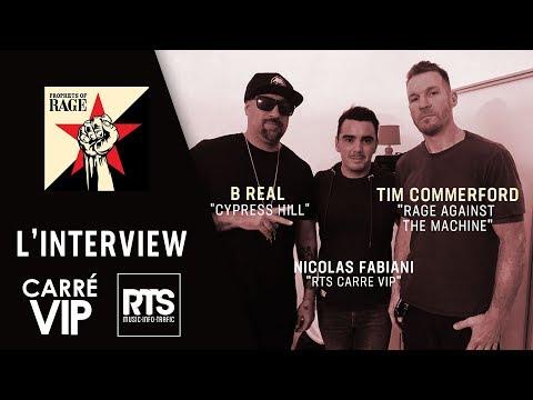 Les stars américaines de Prophets of Rage en interview en France