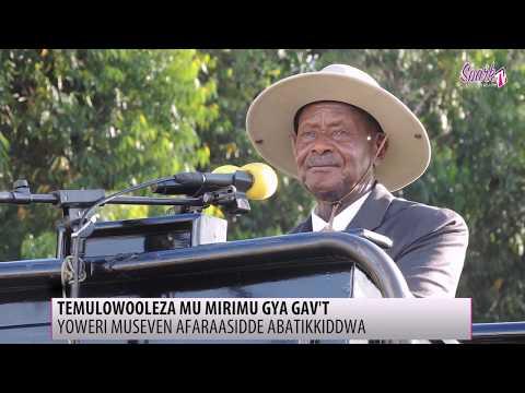Museveni asabye abavubuka okwesonyiyira emirimo gya office
