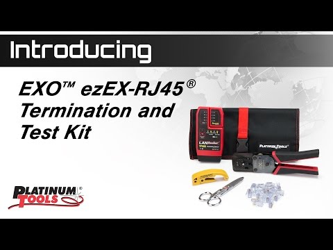 EXO ezEX-RJ45 Termination & Test Video