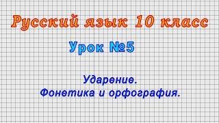 Русский язык 10 класс Урок 5