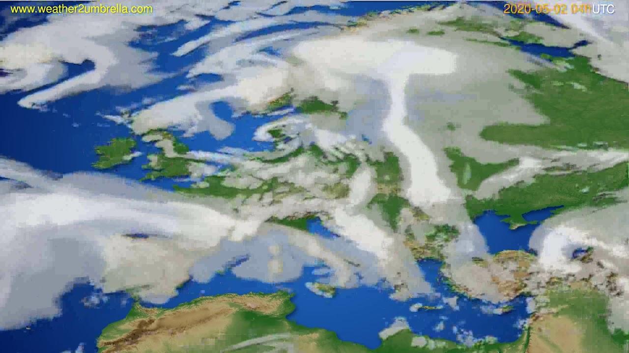Cloud forecast Europe // modelrun: 12h UTC 2020-05-01