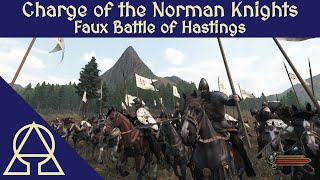 Normans and Saxons at the Faux Battle of Hastings - Mount and Blade II Bannerlord