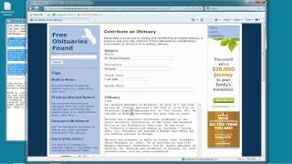 Searching and Contributing Free Obituaries