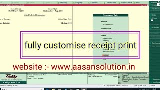 Aasan solution - Fully receipt print free Tally Tdl | Tally Experts