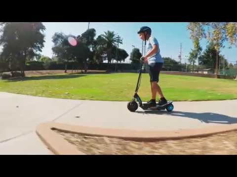 Razor Power Core E100 Electric Scooter Ride Video